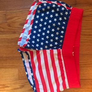Hurley American flag shorts size small